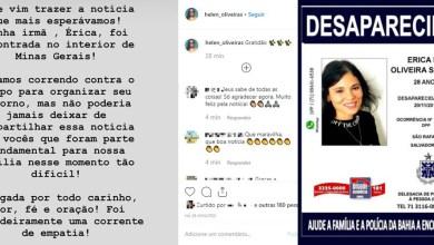 Photo of #Bahia: Jovem moradora de Salvador é localizada no interior de Minas Gerais oito dias após desaparecer