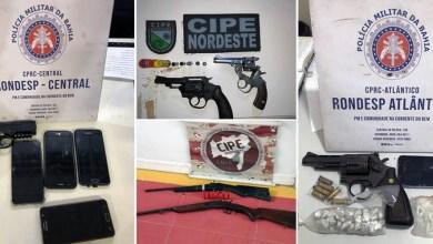 Photo of #Bahia: Ações policiais apreendem armas, simulacros e drogas no final de semana