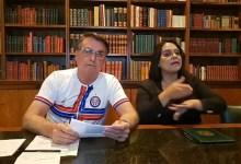 """Photo of #Vídeo: Bolsonaro diz que não vai """"renunciar"""" e que não vai """"dar dinheiro para imprensa"""""""