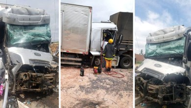Photo of Chapada: Caminhoneiro fica ferido após bater em traseira de outro caminhão na região de Seabra