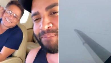 Photo of #Vídeo: Gusttavo Lima e Leonardo furam isolamento para pescar e passam por sufoco com pouso de emergência de avião