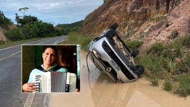 Photo of #Bahia: Músico Targino Gondim sai ileso de acidente após carro capotar em estrada do litoral baiano