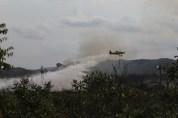 As chamas são combatidas na região   FOTO: Paula Fróes/GOVBA  