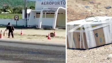 Photo of #Chapada: Caixa com pedra mobiliza esquadrão antibombas do Bope em área externa de aeroporto em Jacobina