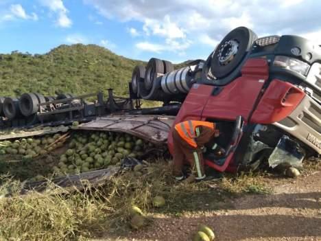 O grave acidente ocorreu na última quinta-feira | FOTO: Divulgação/Anjos da Chapada |