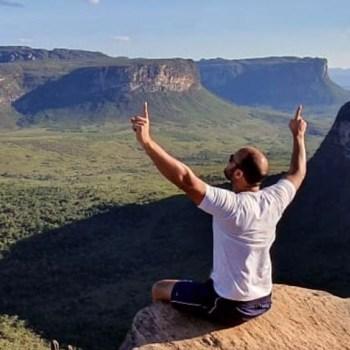 Capitão Alden em clique de um dos cartões-postais da Chapada: o Morro do Pai Inácio   FOTO: Reprodução/Instagram  