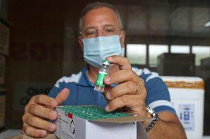 A segunda dose da vacina de Oxford pode ser tomada em até 90 dias | FOTO: Divulgação/Sesab |