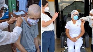 Photo of #Chapada: Idoso de 77 anos e enfermeira de 45 são os primeiros imunizados contra a covid em Utinga; 14 pessoas estão em recuperação