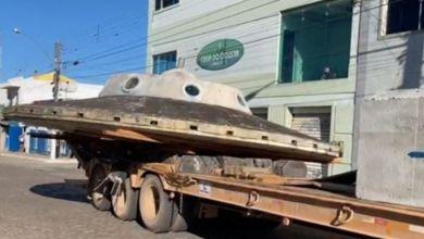 Photo of #Chapada: Prefeitura de Morro do Chapéu transfere réplica de disco voador para o centro da cidade; veja vídeo