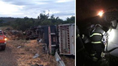 Photo of #Chapada: Homem morre após caminhão tombar na região de 'Tanquinho de Lençóis'; bombeiros militares fizeram o resgate