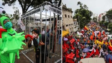 Photo of #Bahia: Protestos em cidades baianas pedem prisão de Bolsonaro e mais vacinas urgente para vencer a pandemia
