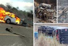 Photo of #Chapada: Grave acidente que matou procurador de Nova Redenção deixou veículo carbonizado e local repleto de chamas