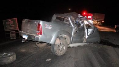 Photo of #Bahia: Homem morre em grave acidente entre caminhonete e carreta na BR-242; latas de cerveja foram encontradas em um dos veículos