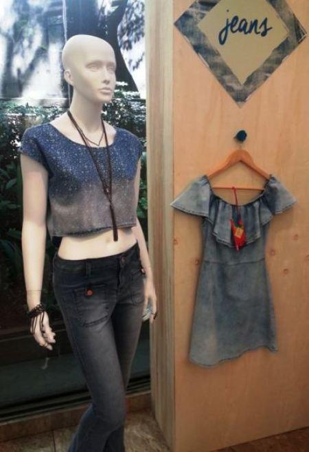 tendência moda - look total jeans mais lavado verão 2016 Marisa