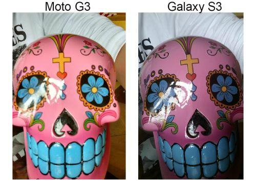 Câmera frontal Moto G3 teste com Samsung Galaxy S3