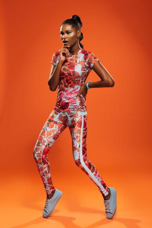 conjunto estampado legging e top fitwear fitness academia rala bela clau cicala