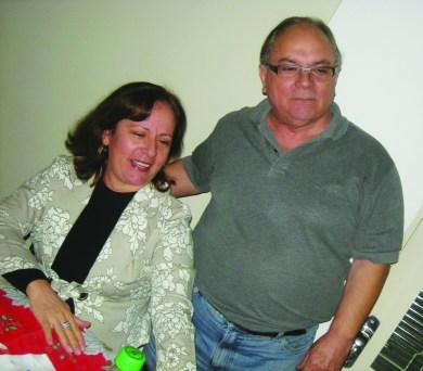Geraldo Polezze com sua irmã Maria Clara