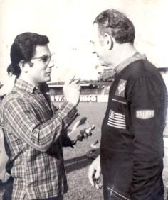 Com Victorio Truffi no 1º vôo de balão em Araraquara, 1971