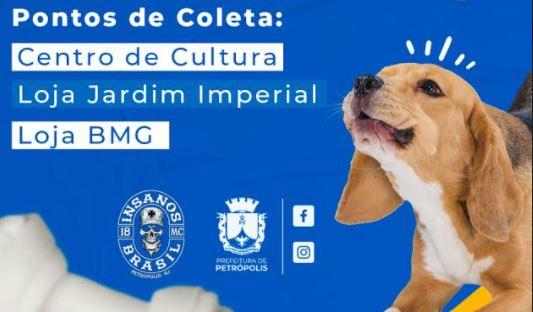 Cobea e moto clube Insanos MC já arrecadaram 180 quilos de ração em campanha