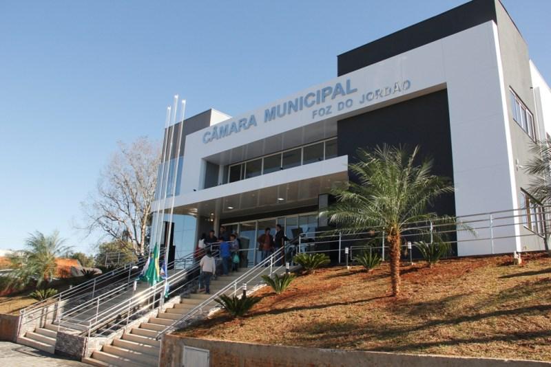 Nova sede da Câmara Municipal de Foz do Jordão (Foto:Naor Coelho/Fatos do Iguaçu)