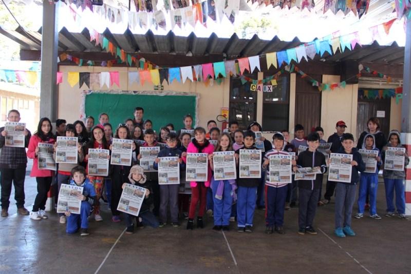 Escola Cipriano: As duas turmas do quinto ano da manhã e a turma da tarde da escola Cipriano estarão participando do Projeto Leitura em Ação  (Foto:Nara Coelho/Fatos do Iguaçu)