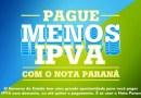 Transfira créditos do Nota Paraná para pagar IPVA até dia 30