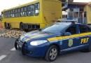 PRF prende mulher que dirigia ônibus com 1,8 tonelada de maconha no Paraná