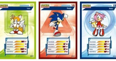 Bob's lança cards do Sonic
