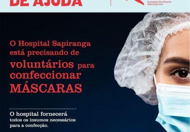 Hospital de Sapiranga precisa de voluntários para confeccionar máscaras