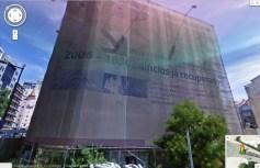 Em 2009 os edifícios já estavam tapados pela tela de autopromoção que restava do mandato de Santana Lopes (Imagem: Google)