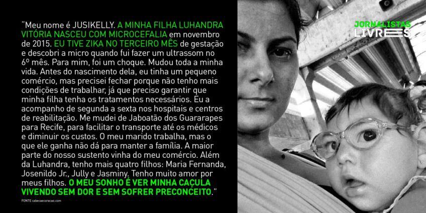 Mães de bebês com microcefalia