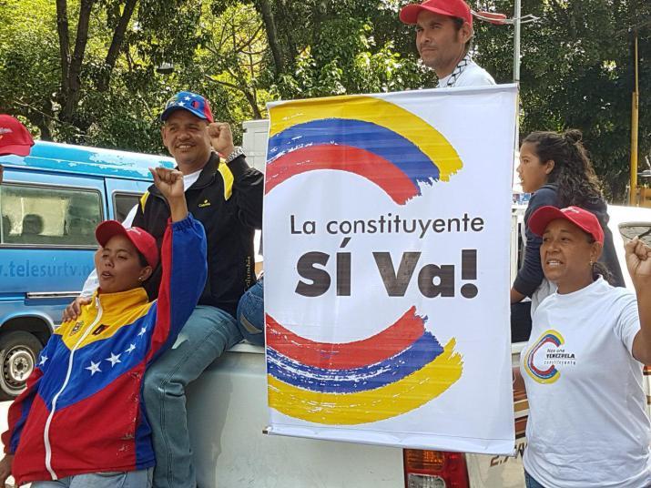 Ensaio da Assembléia Nacional Constituinte em Caracas, Venezuela