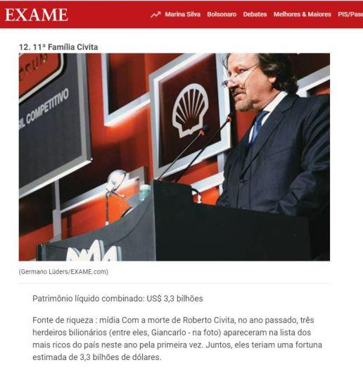 Reprodução: revista Exame, da Editora Abril (Publicado em 9 abr 2014)