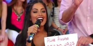 Número de whatsapp de Aline Riscado é divulgado na TV