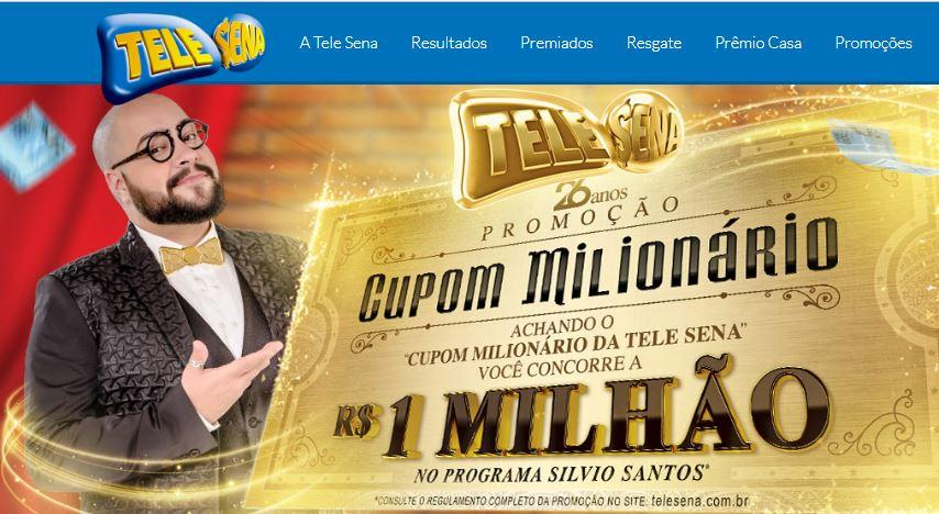 (Reprodução/www.telesena.com.br) O terceiro sorteio da Tele Sena ocorrera na data de hoje neste domingo (05) nesta campanha esta presente o'Cadastro Premiado' saiba como funciona