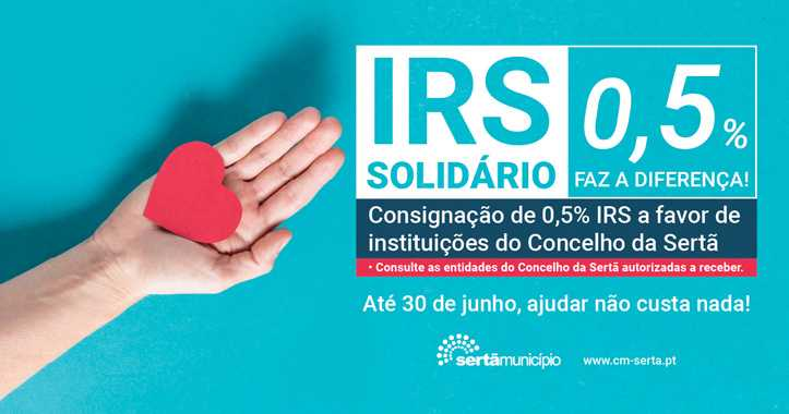 Sertã: Câmara apela à consignação de IRS a favor de instituições do Concelho
