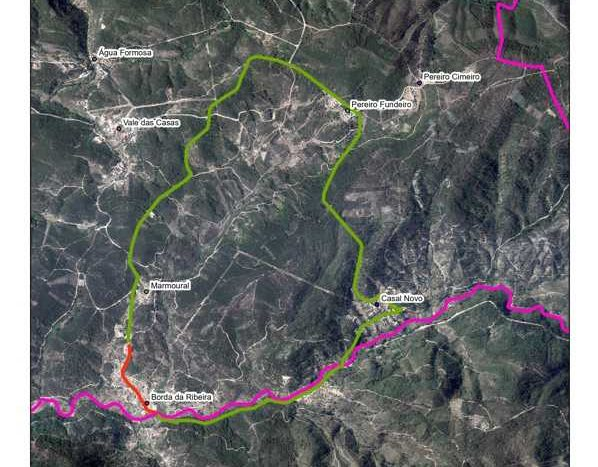 Vila de Rei: Estrada em Borda da Ribeira cortada