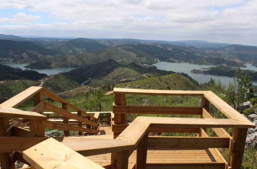 Vila de Rei: Miradouro da Seada com vista sobre o Rio Zêzere
