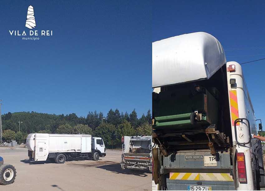 Vila de Rei reforça o processo de Limpeza e desinfeção dos contentores de resíduos