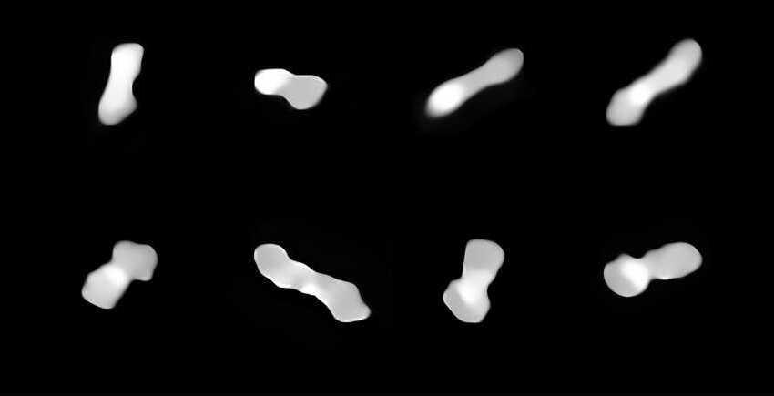 """ESO captura as melhores imagens de sempre do asteroide peculiar """"osso de cão"""""""