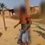 Ladrão é amarrado em poste e surrado pela população na zona Leste; Veja vídeo
