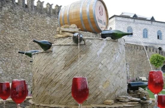 fonte de vinho