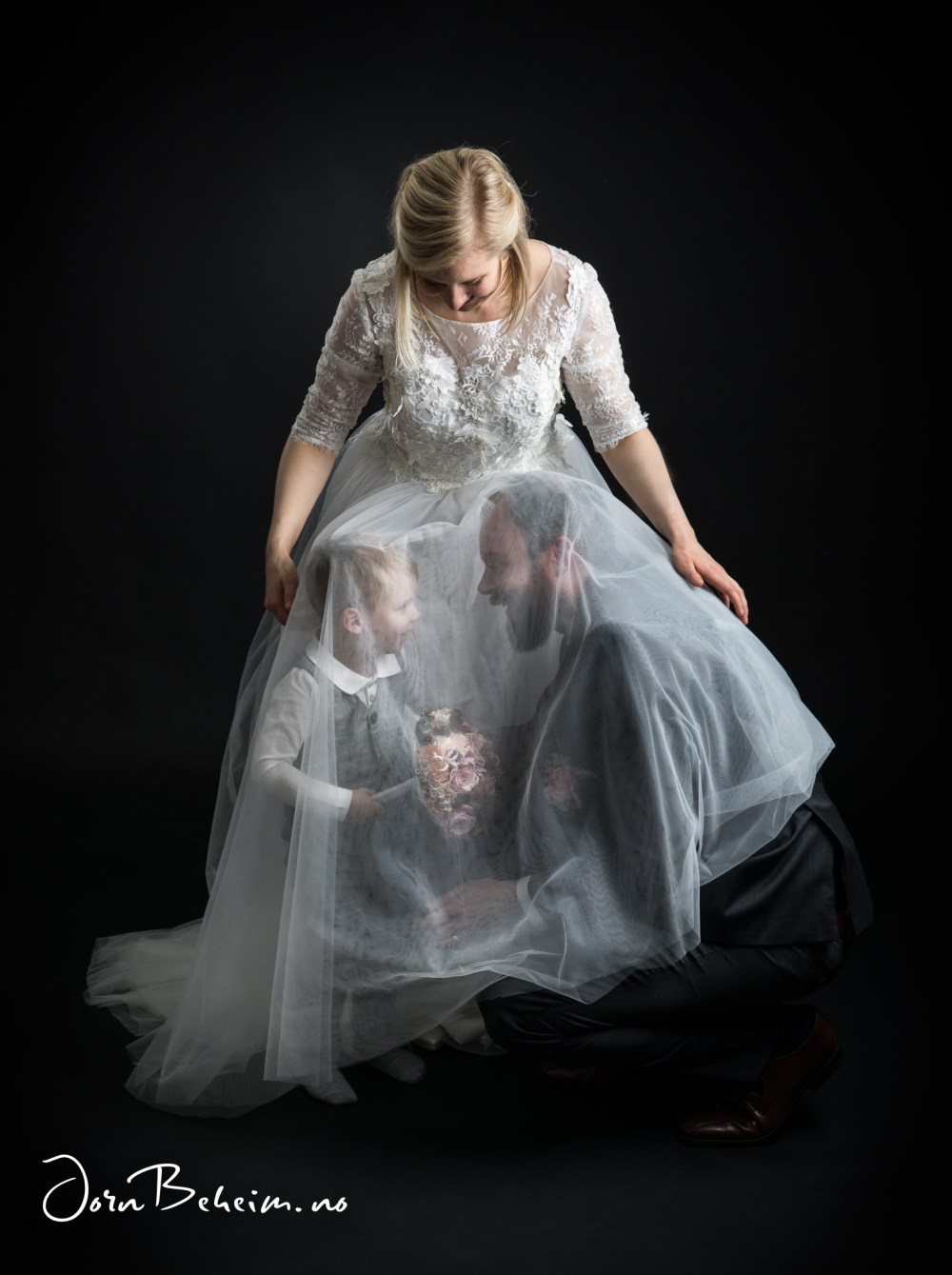 Bryllupsfotograf i studio