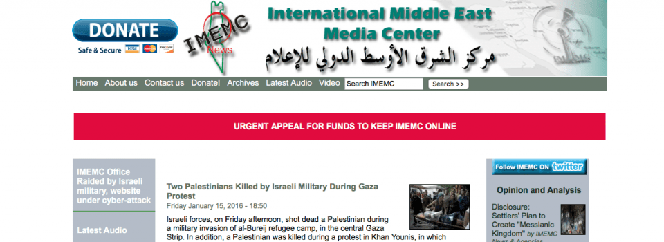 IMEMC: International Middle East Media Center