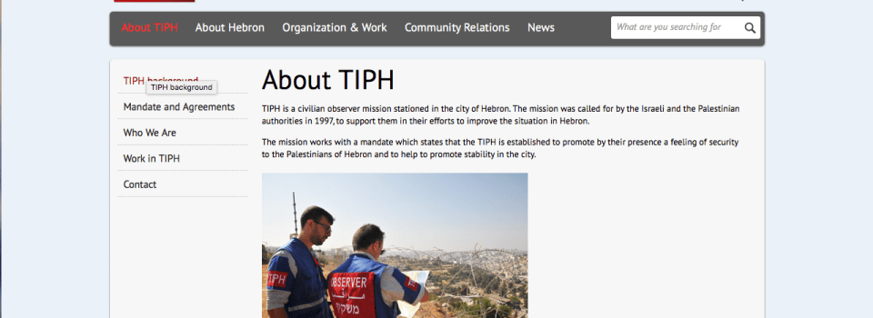 TIPH:  Temporary International Presence in Hebron