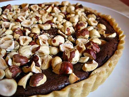 تارت الشوكولاتة والبندق – حلويات
