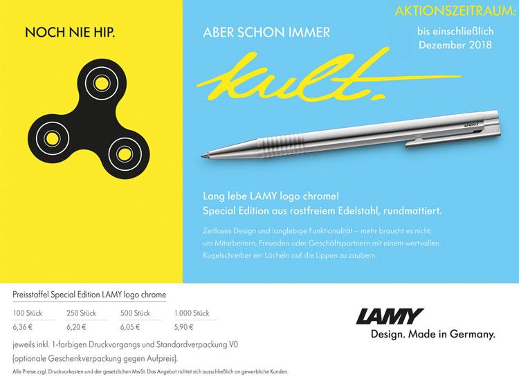 Werberatikel LAMY Kugelschreiber LAMY logo chrome