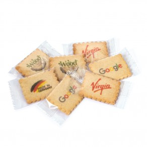 Vanille-Butterkeks mit Werbeaufdruck