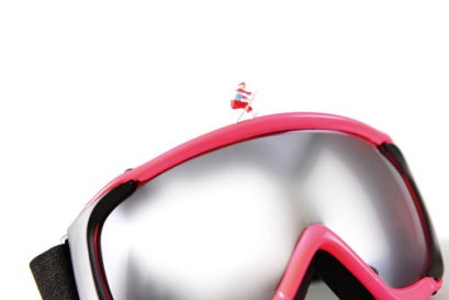 Skibrille als Merchandisingartikel