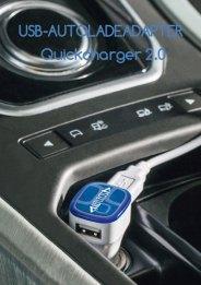 Werbeartikel USB-Autoladeadapter-Quickcharge 2.0